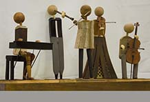The Chamber Quintet - assemblage - by Terry Murray