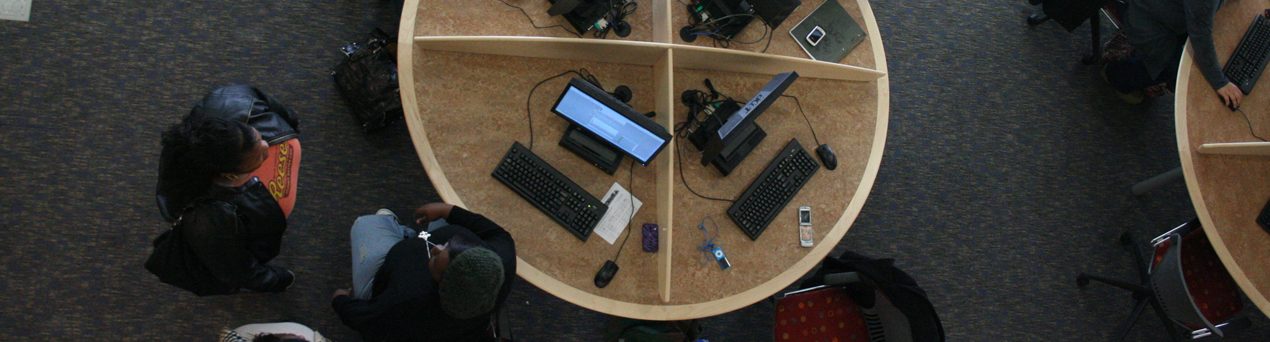 Students at a computer desk