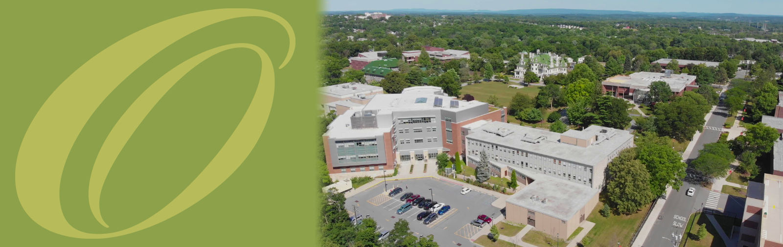 Aerial shot of Middletown Campus