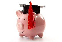 Piggybank with Graduation Cap