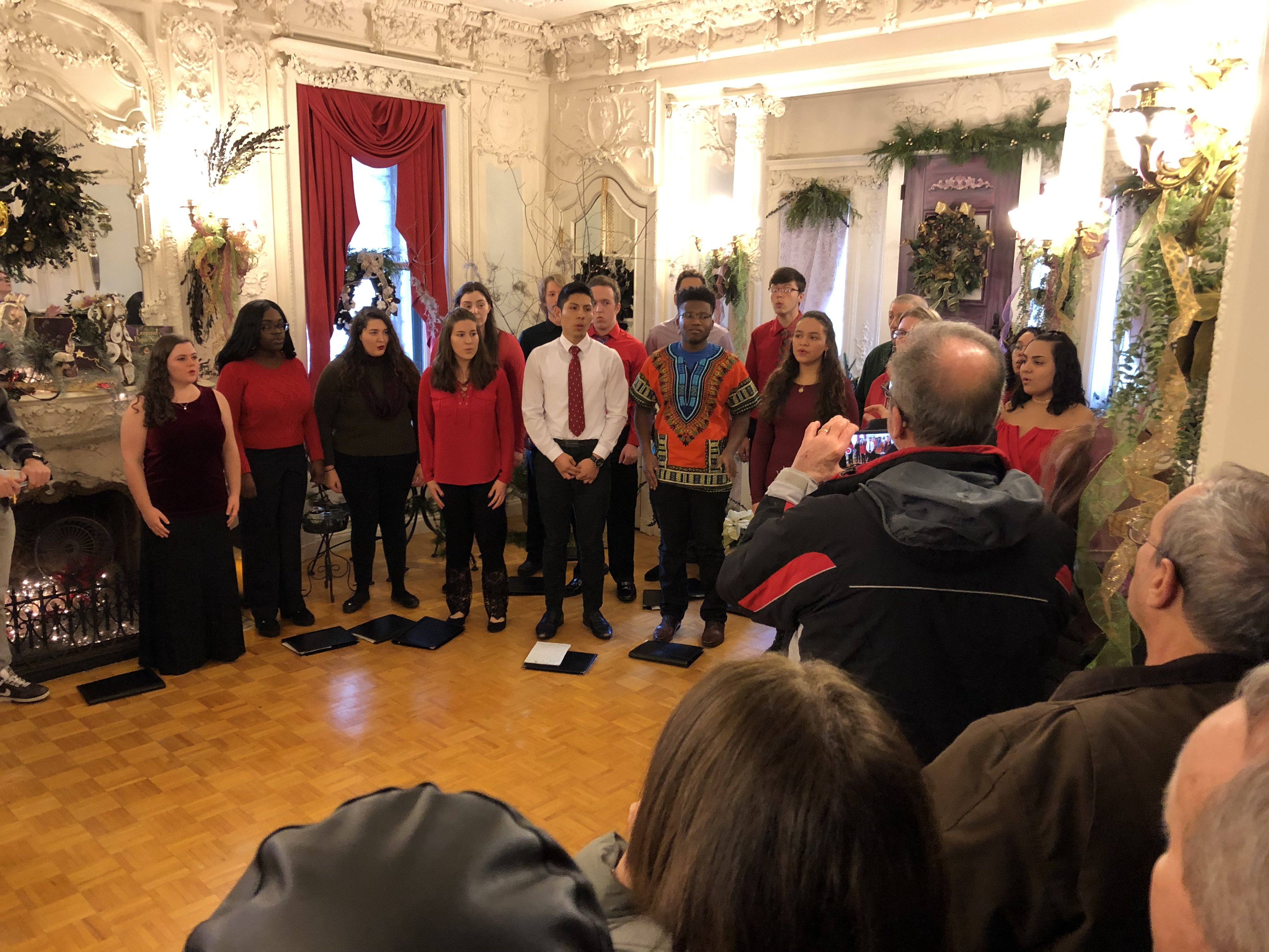 PHOTO: The Madrigal Singers at the Holiday Open House