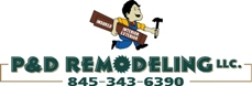 P&D Remodeling business logo.