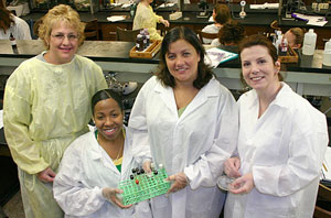 Photo: group of laboratory technicians