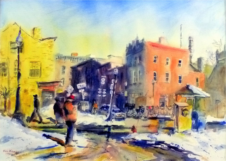 Exhibit: Albany Urban Scenes:  Watercolors by Kevin Kuhne