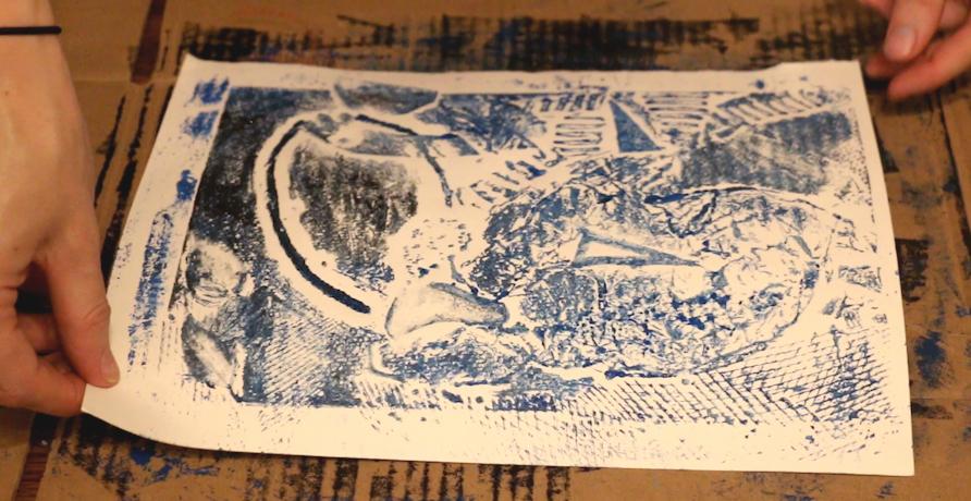 Alternative Printmaking Methods: Collagraphs in the Kitchen  by Elizabeth Schneider