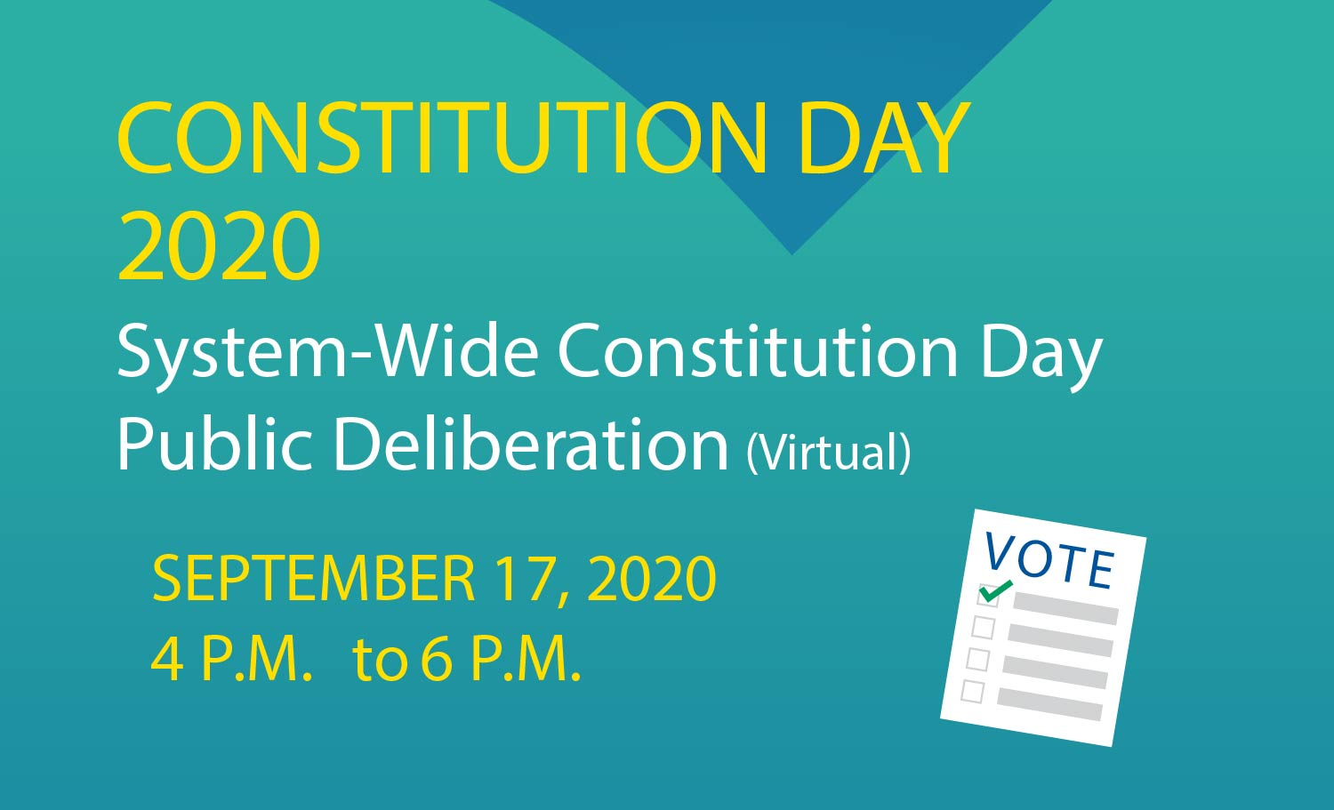 Constitution Day - System-Wide Public Deliberation