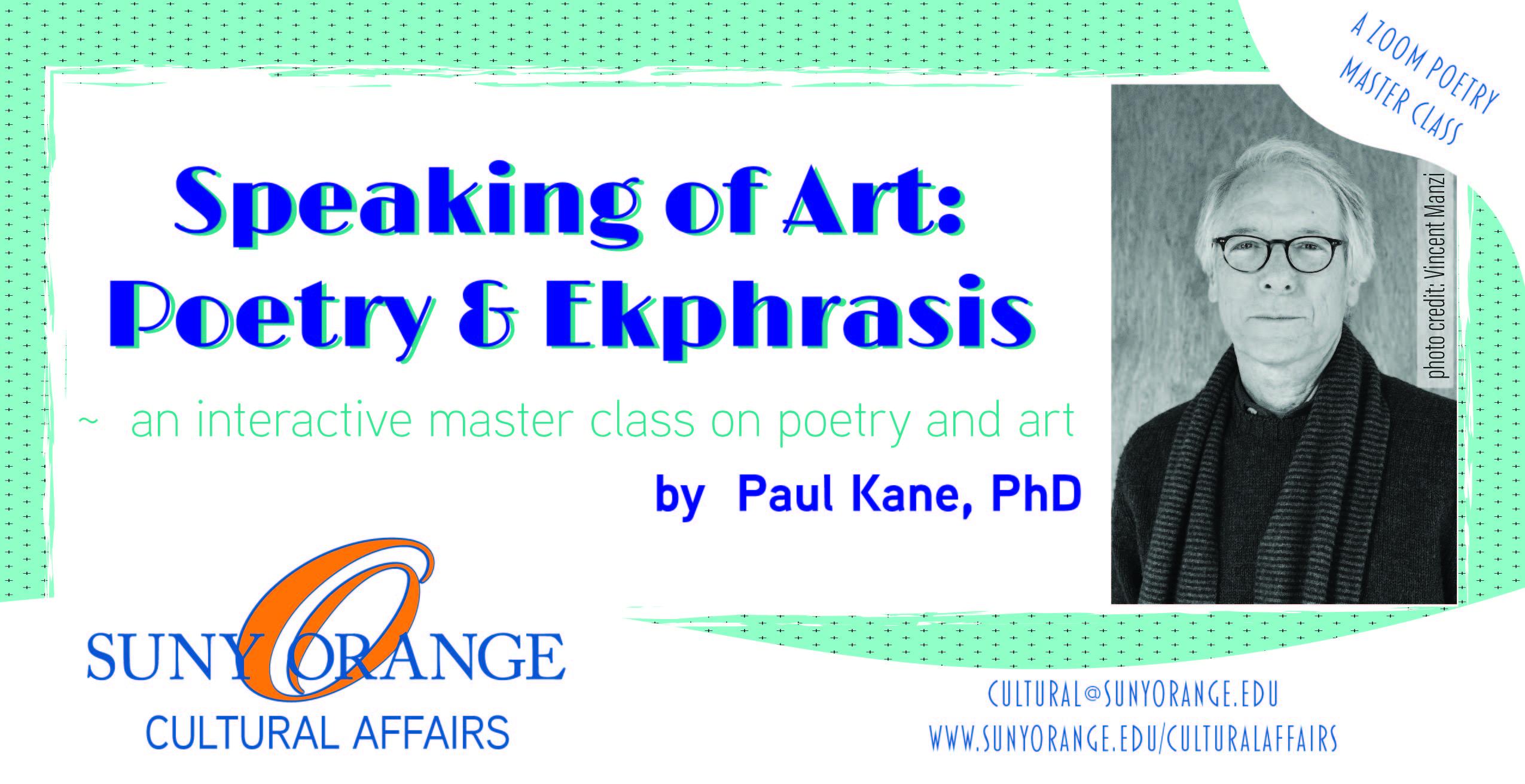 Speaking of Art: Poetry and Ekphrasis