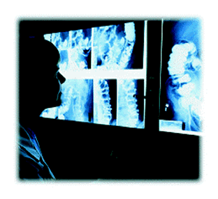 Practitioner Examing Radiographs