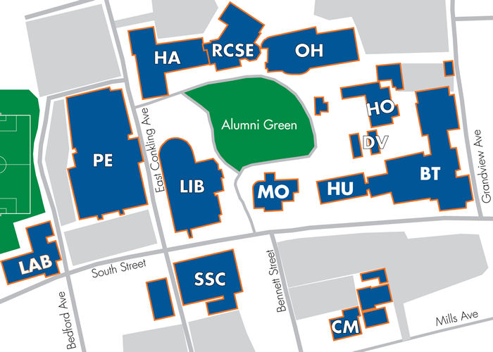 Middletown Campus Map