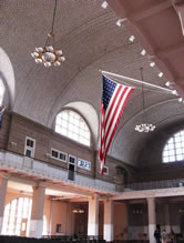 Inside the Great Hall, Flag flying