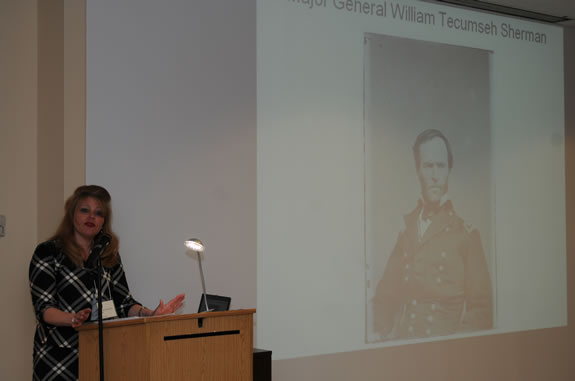 Professor Heidi Weber presented this past March on her Civil War research at a conference in South Carolina