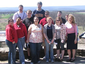 Group Photo of Field Trip to Gettysburg