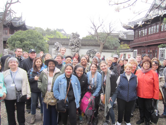 SUNY Orange students community members, and faculty members in China, Spring 2018