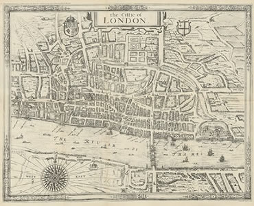 Citie of London Map - in public domain, released by Library of Britain