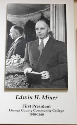 Photo: Edwin H. Miner - first president of Orange County Community College