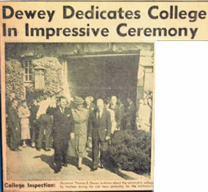 Gov Dewey dedicates college