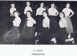 cheer leading squad 1951