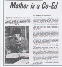 Emily Borenstein made headlines when she went back for her degree in1961 at the same time as her oldest daughter.