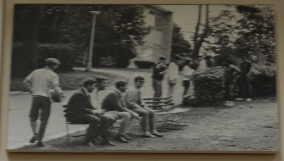 Photo: Students taking a break