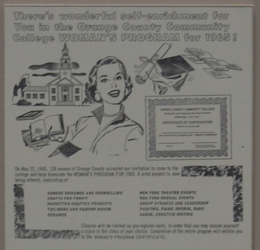 The College advertises its Women's Program