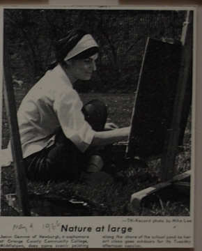 OCCC Student painting a picture in 1966