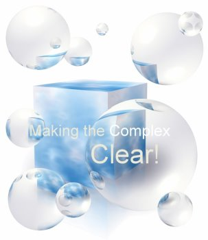 picture of bubbles, making the complex clear