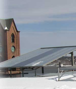 PHOTO: Solar panels atop Kaplan Hall