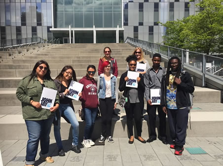 TRiO students on a Transfer tour at CUNY John Jay.