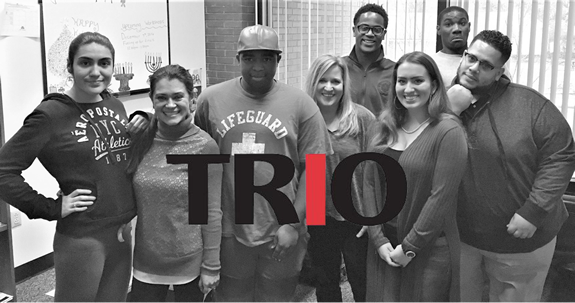 TRiO students and staff in the TRio office